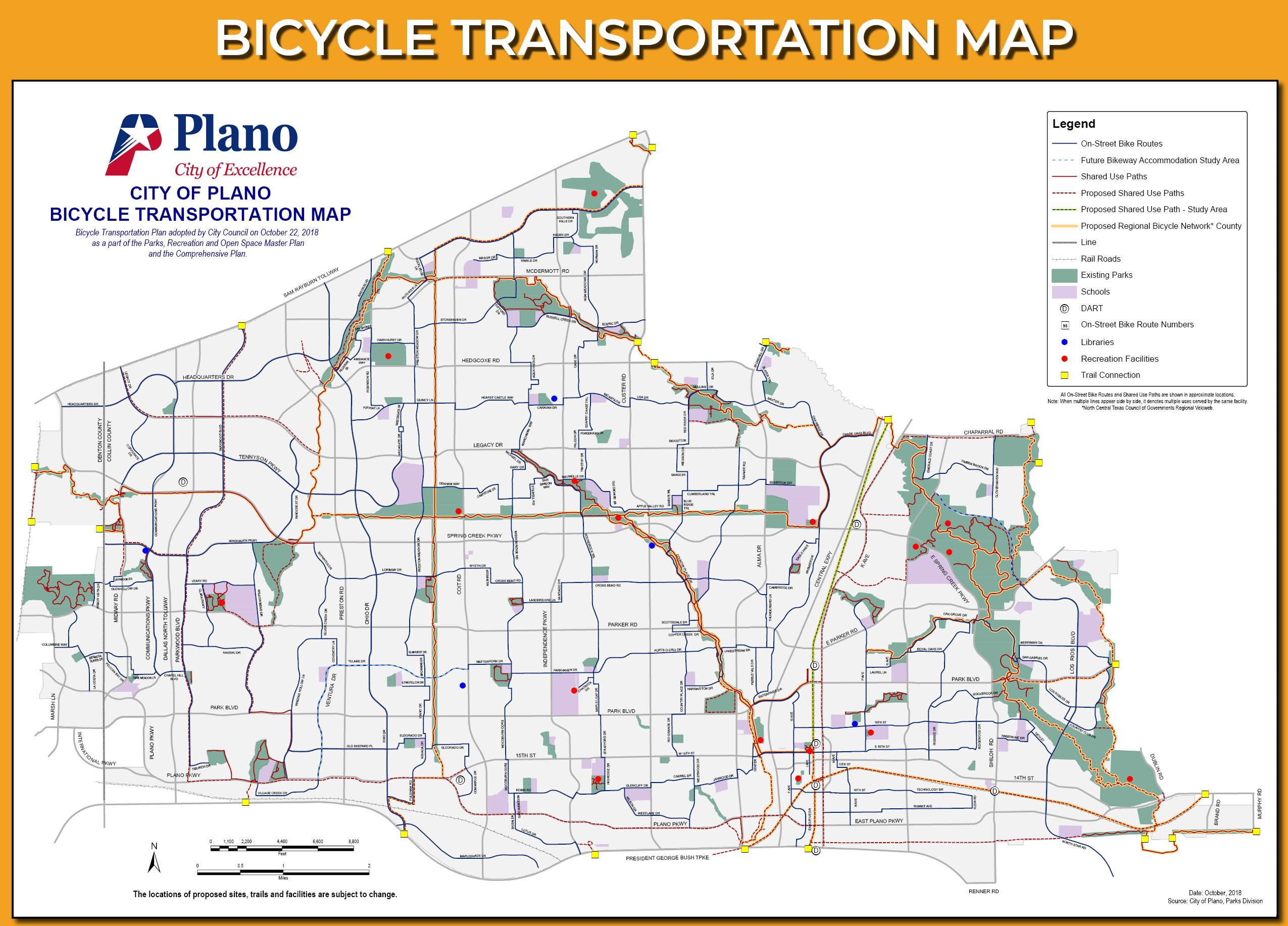 Bicycle Transportation Map 2018